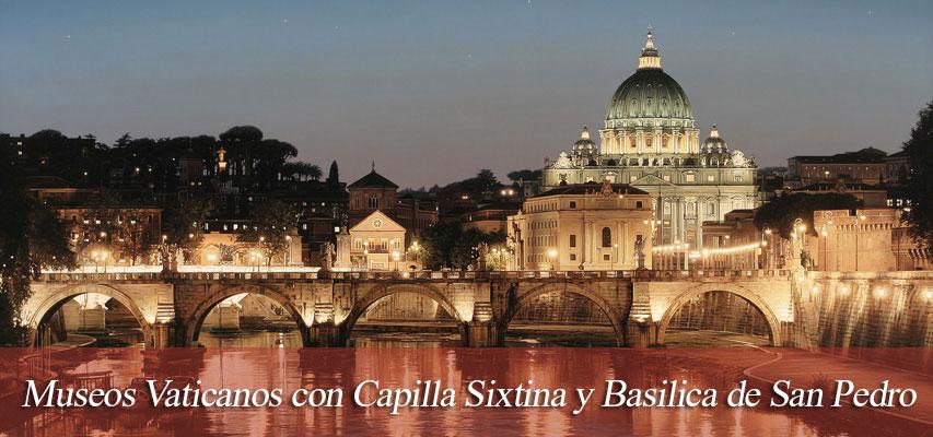 Museos Vaticanos con Capilla Sixtina y Basilica de San Pedro